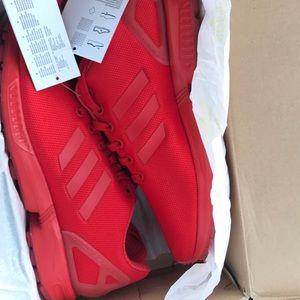 Red adidas flux
